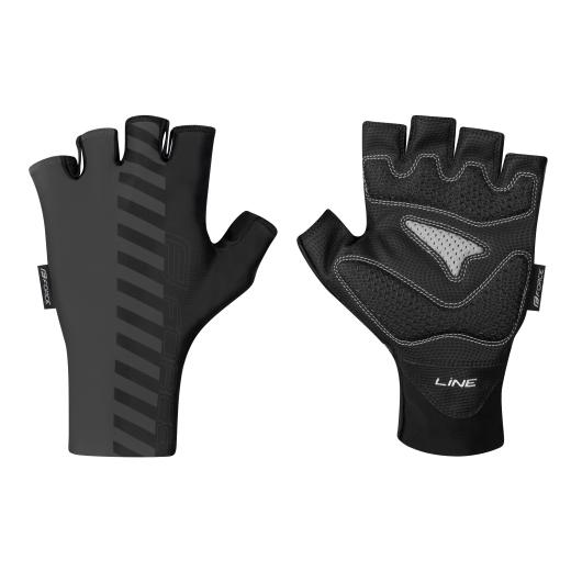 rukavice FORCE LINE bez zapínání, šedo-černé