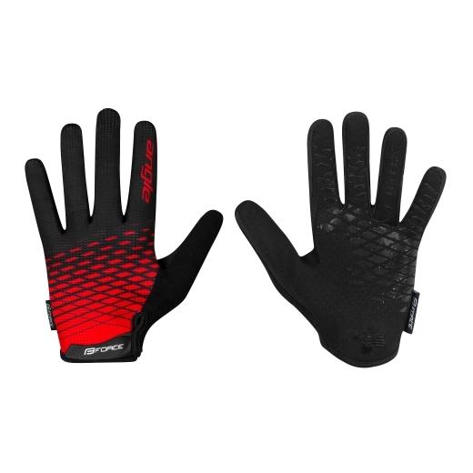 rukavice FORCE MTB ANGLE letní,červeno-černé