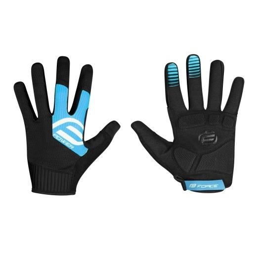 rukavice FORCE MTB POWER, černo-modré