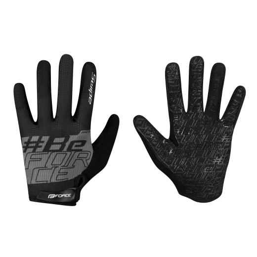 rukavice FORCE MTB SWIPE letní,černo-šedé