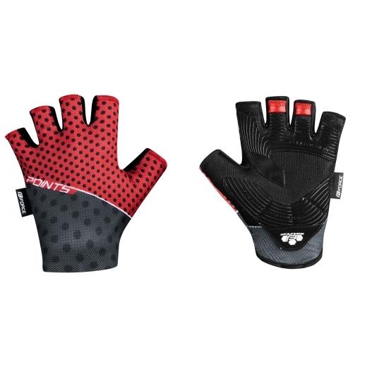 rukavice FORCE POINTS bez zapínání,červeno-črn