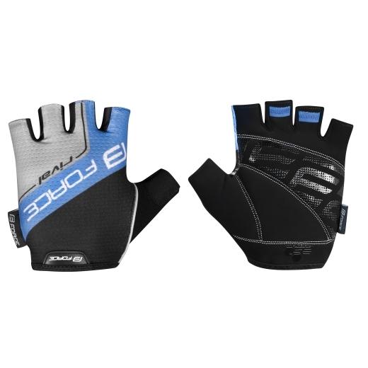 rukavice FORCE RIVAL, černo-modré