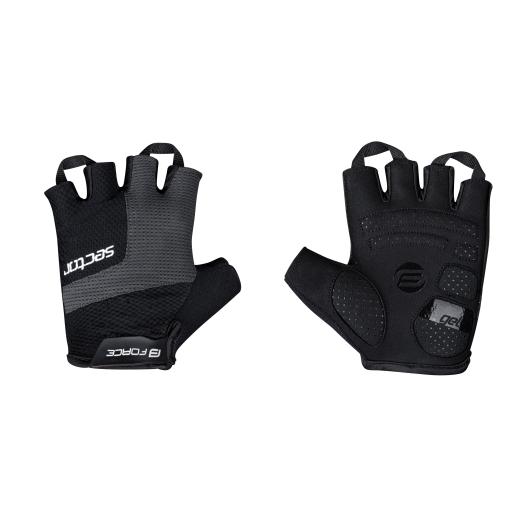 rukavice FORCE SECTOR gel, černo-šedé