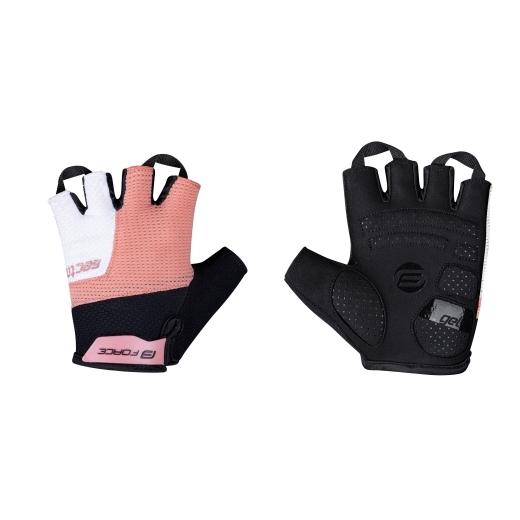 rukavice FORCE SECTOR LADY gel, černo-meruňkové