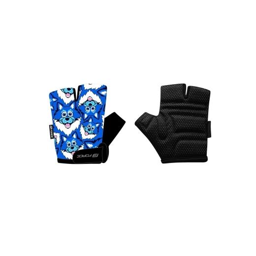 rukavice FORCE WOLFIE KID, modré