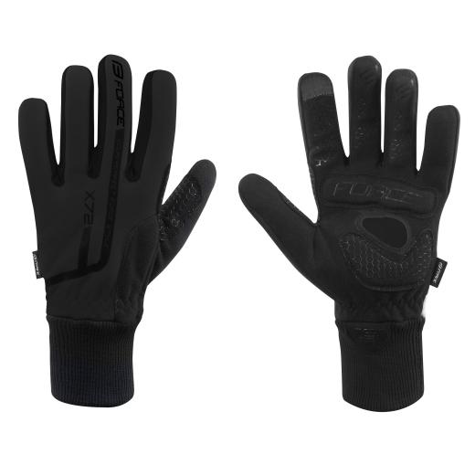 rukavice zimní FORCE X72, černé