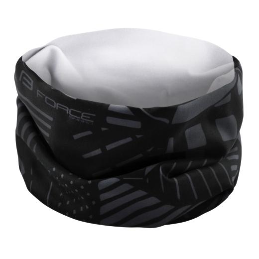 šátek FORCE SHARD jaro/podzim, černo-šedý UNI