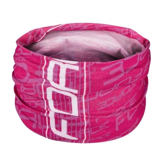 šátek multifunkční FORCE léto, růžový, UNI