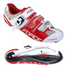 shoes FORCE ROAD CARBON, white-red