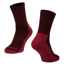 socks FORCE ARCTIC, claret-red
