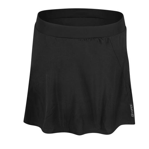 sukně FORCE DAISY do pasu s vložkou, černá