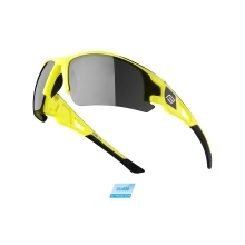 sunglasses FORCE CALIBRE fluo yellow, black lens