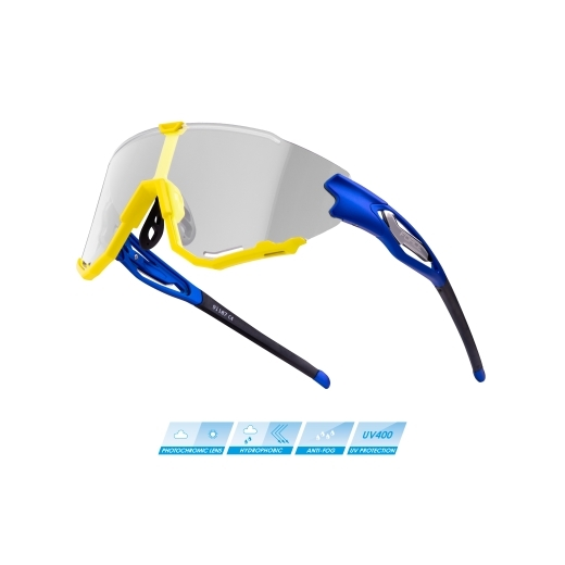 sunglasses FORCE CREED blue-fluo, photochr. lens