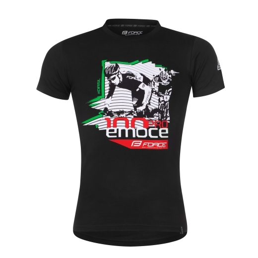 triko FORCE DRÁSAL krátký rukáv,černé