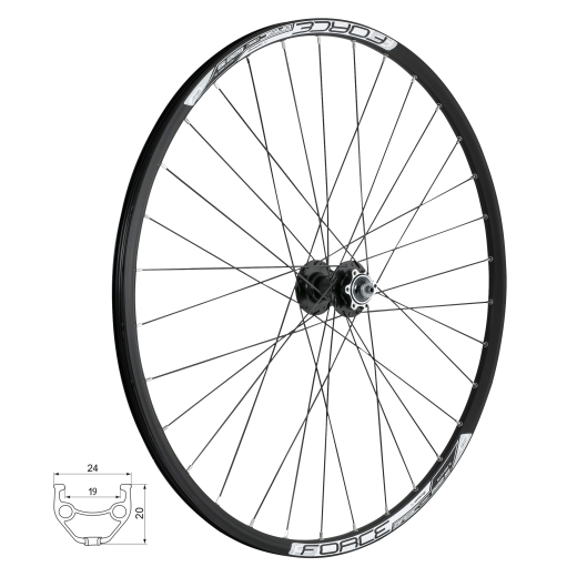 wheel front FORCE BASIC DISC 622x19, 804342-6b32sh