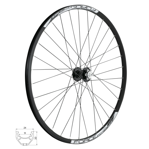wheel front FORCE BASIC DISC 622x19, 80450-6b32sh