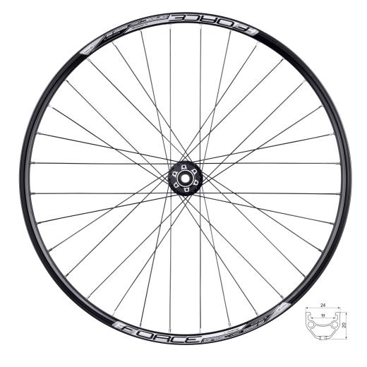 wheel front FORCE BASIC DISC 622x19, 804505-6b32sh