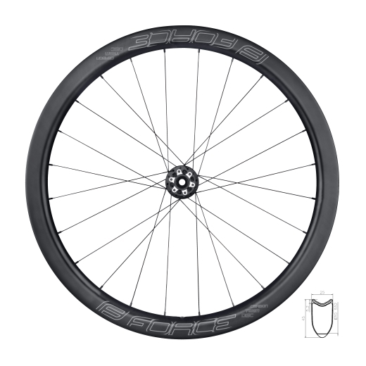 wheel front road FORCE TEAM CARBON DISC 45 tub.