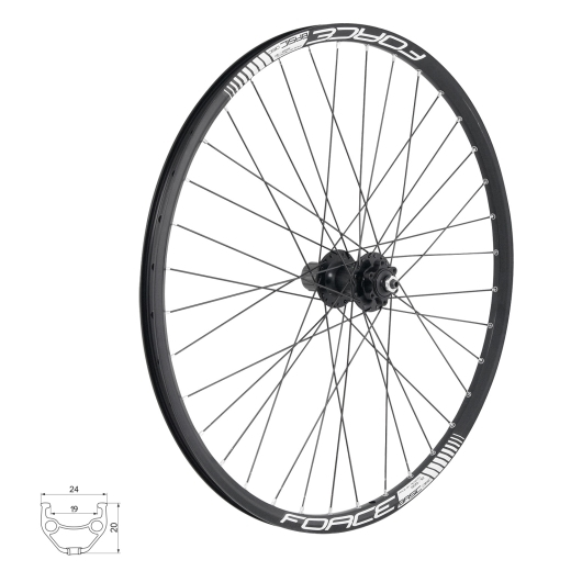 wheel rear FORCE BASIC DISC 559x19, 804333 6b32sh